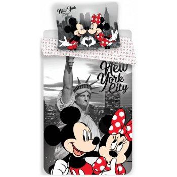 Bavlnené posteľné obliečky Mickey & Minnie Mouse in New York