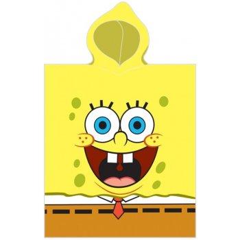 Detské plážové pončo - osuška s kapucňou SpongeBob