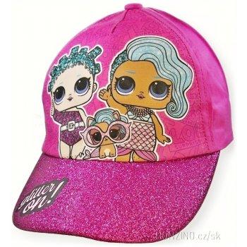 Dievčenská šiltovka s trblietavým šiltom L.O.L. Surprise - tm. ružová