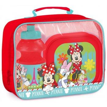 Pikniková sada Minnie Mouse - box na desiatu a fľaša na pitie v taške