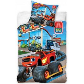 Detské posteľné obliečky Plamienok a štvorkolky - Blaze