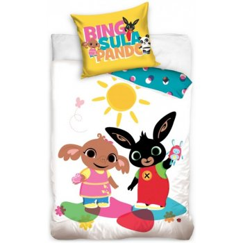 Obliečky do detskej postieľky Zajačik Bing, Sula a Pando