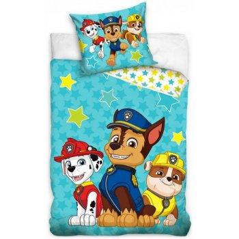 Obliečky do detskej postieľky Paw Patrol - Hviezdy