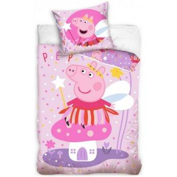 Detské posteľné obliečky Prasiatko Peppa víla