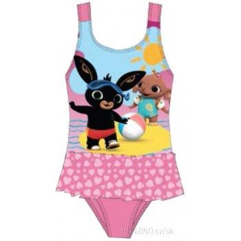 Dievčenské jednodielne plavky Zajačik Bing - sv. ružové