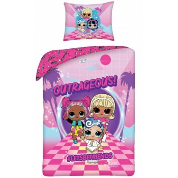 Bavlnené posteľné obliečky L.O.L. Surprise - Neon Vibes
