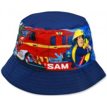 Detský klobúk Požiarnik Sam - tm. modrý