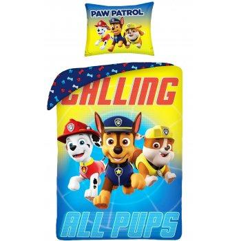 Bavlnené posteľné obliečky Paw Patrol - Calling all pups