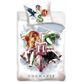 Bavlnené posteľné obliečky Harry Potter - erb Hogwarts