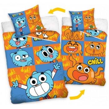 Bavlnené posteľné obliečky Gumballův úžasný svet