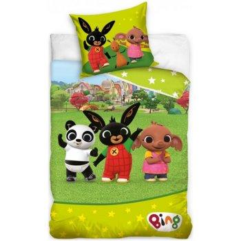 Detské posteľné obliečky Zajačik Bing na lúke s kamarátmi