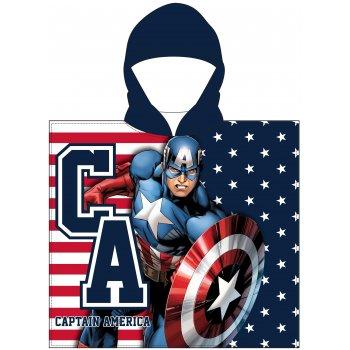 Chlapčenské pončo - osuška s kapucňou Kapitán Amerika - Avengers
