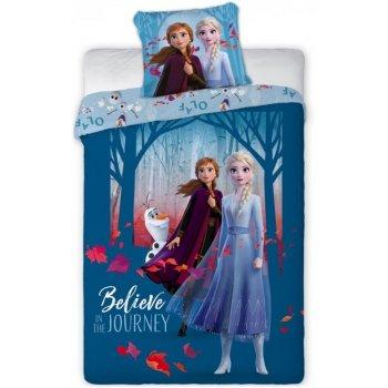 Bavlnené posteľné obliečky Ľadové kráľovstvo - Believe in The journey