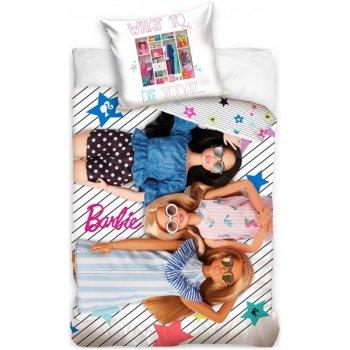 Bavlnené posteľné obliečky Barbie - What to be today