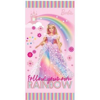 Plážová osuška Barbie - Dúhová princezná