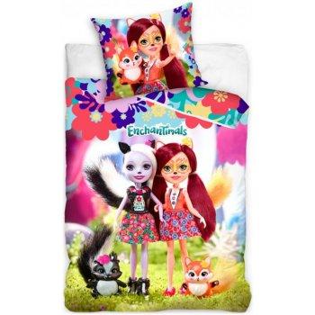 Bavlnené posteľné obliečky Enchantimals - Felicity a Sage