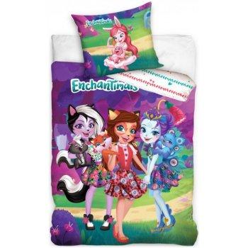 Bavlnené posteľné obliečky Enchantimals - Lesní maznáčikovia