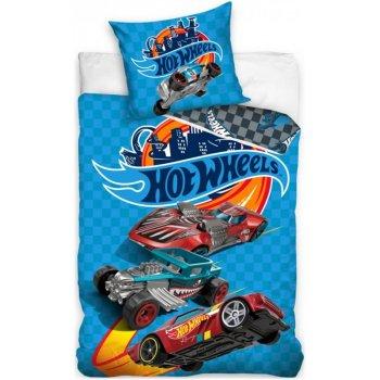 Bavlnené posteľné obliečky Hot Wheels - Nebezpečné preteky