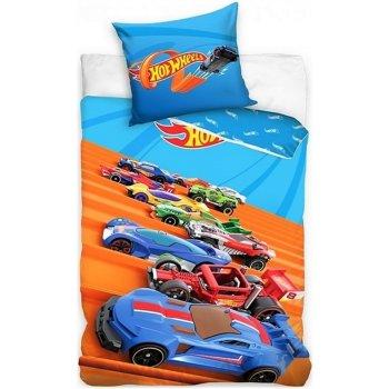 Bavlnené posteľné obliečky Hot Wheels - Start!