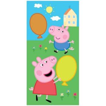 Detský uterák Prasiatko Peppa, George a balóniky