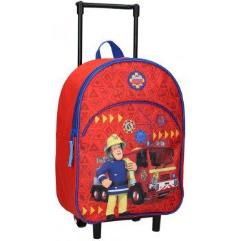 Detský cestovný kufor na kolieskach Požiarnik Sam