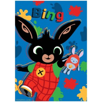 Detská fleecová deka Veselý Zajačik Bing