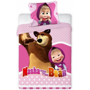 Obliečky do detskej postieľky Máša a medveď