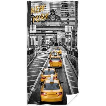 Bavlnená plážová osuška Yellow Cab NYC Taxi