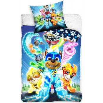 Bavlnené posteľné obliečky Paw Patrol - Charged Up