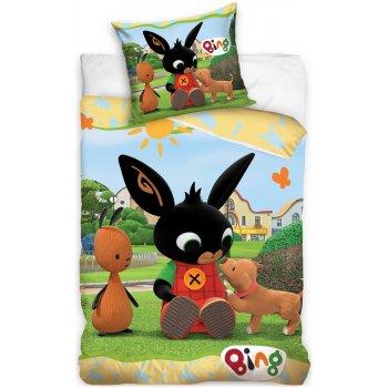 Detské posteľné obliečky Zajačik Bing a šteniatko