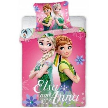 Obliečky do detskej postieľky Ľadové kráľovstvo - Elsa and Anna