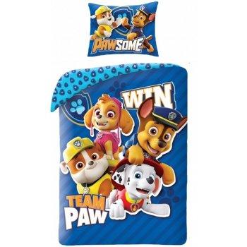 Bavlnené posteľné obliečky Paw Patrol - Team Patrol Win