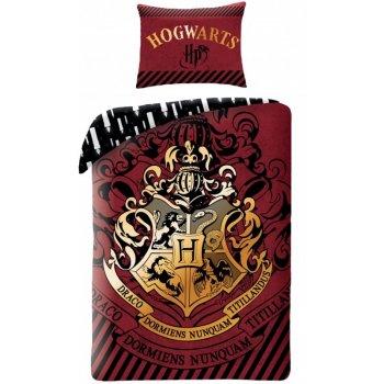 Bavlnené posteľné obliečky Harry Potter - červenohnedé