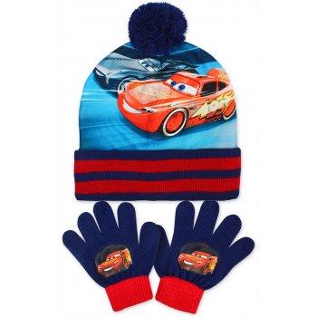 Chlapčenská zimná čiapka + prstové rukavice Autá - McQueen