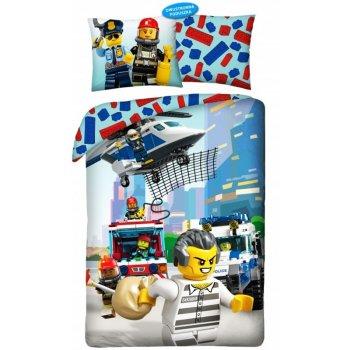Bavlnené posteľné obliečky LEGO City - Utečenec