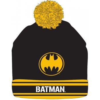 Zimná pletená čiapka s brmbolcom Batman