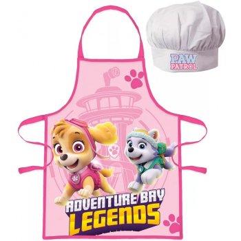 Dievčenská zástera s kuchárskou čiapkou Tlapková patrola - Paw Patrol
