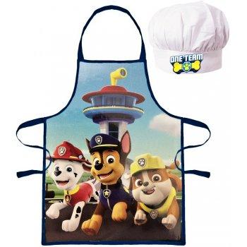 Chlapčenská zástera s kuchárskou čiapkou Paw Patrol