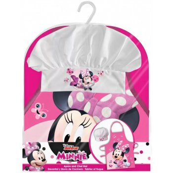 Detská zástera s kuchárskou čiapkou Minnie Mouse - Disney - s motýliky