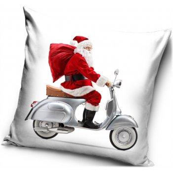 Vianočný povlak na vankúš Santa na Vespe