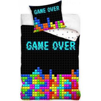 Bavlnené posteľné obliečky GAME OVER
