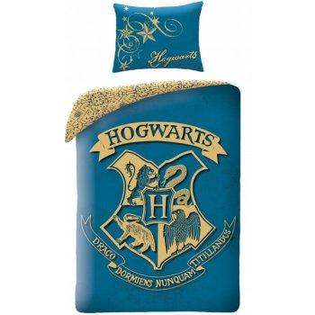 Bavlnené posteľné obliečky Harry Potter - tyrkysové