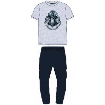 Pánske pyžamo Harry Potter - so strieborným erbom Rokfortu