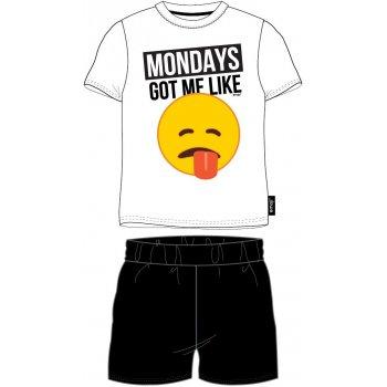 Pánske bavlnené pyžamo Emoji - Mondays got me like