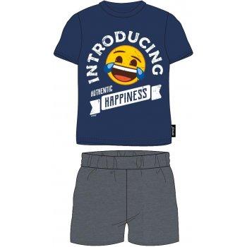 Pánske bavlnené pyžamo Emoji - Introducing authentic happiness