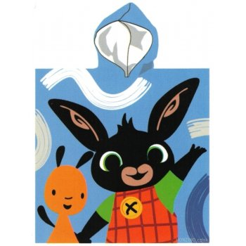 Chlapčenské pončo - osuška s kapucňou Zajačik Bing