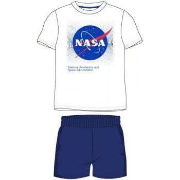 Pánské krátké pyžamo NASA - bílé