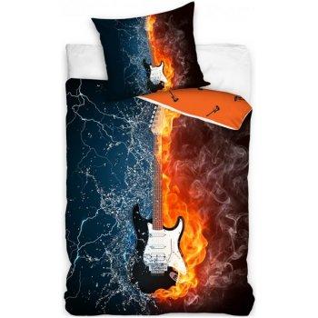 Bavlnené posteľné obliečky Gitara - Fender Stratocaster