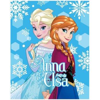 Veľká fleecová deka Ľadové kráľovstvo - Anna & Elsa
