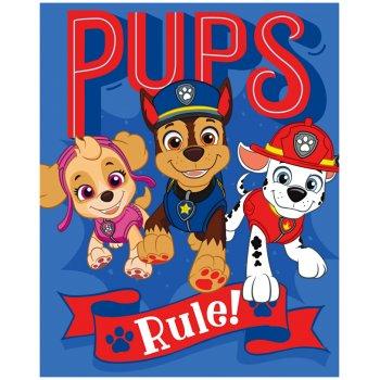 Fleecová deka Tlapková patrola - Paw Patrol - Pups Rule